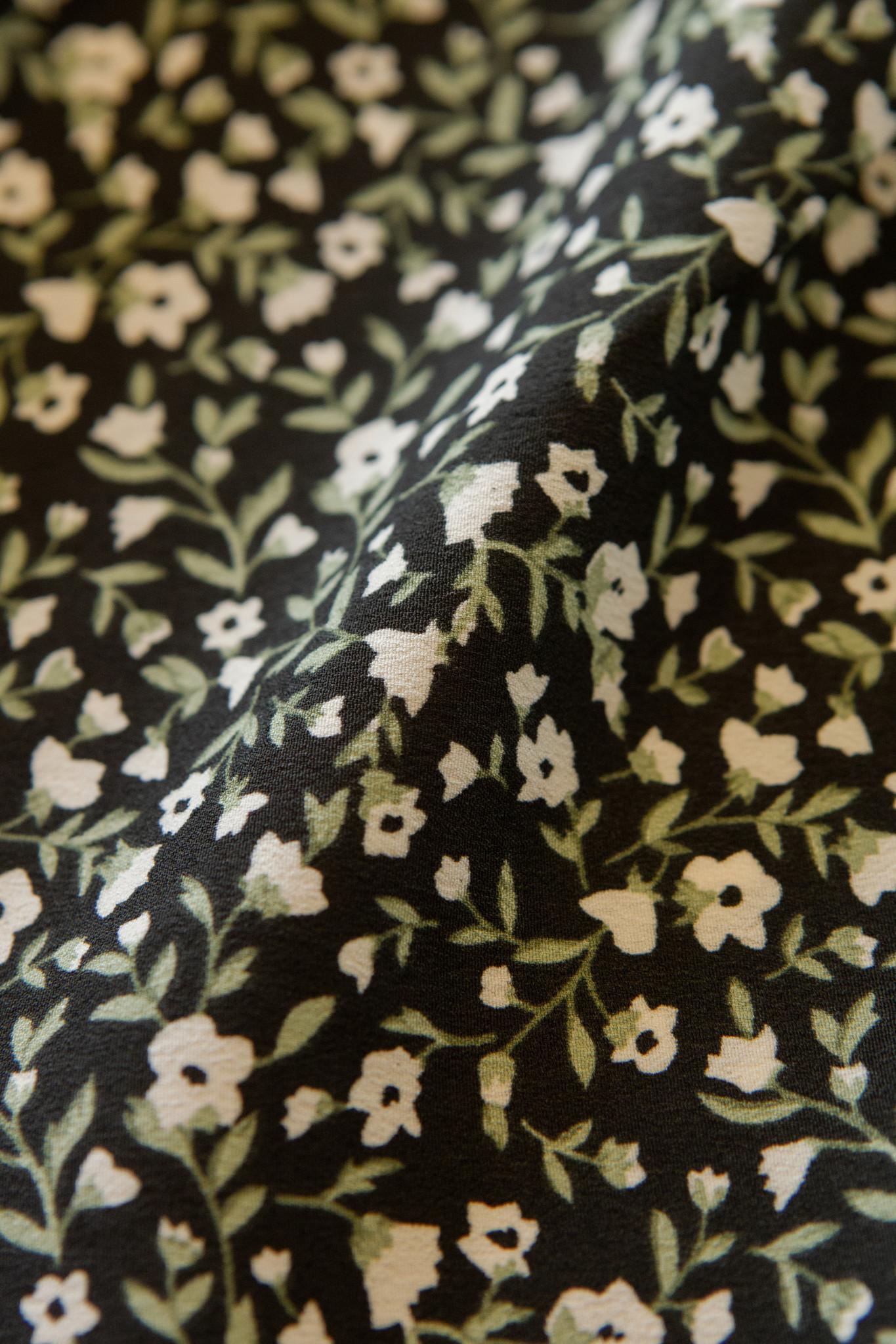 Lofty Manner Zwarte Bloemenprint Jurk Fayah