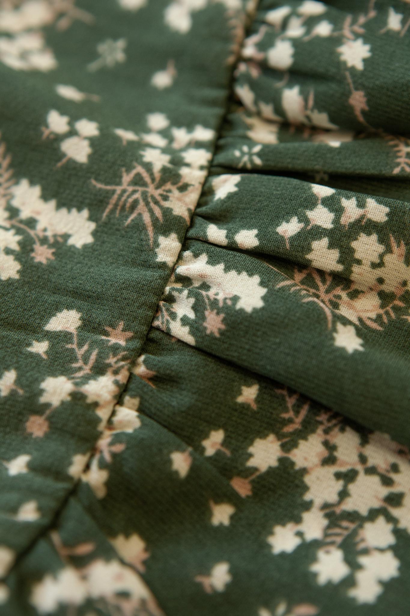 Lofty Manner Groene Bloemenprint Top Assiya