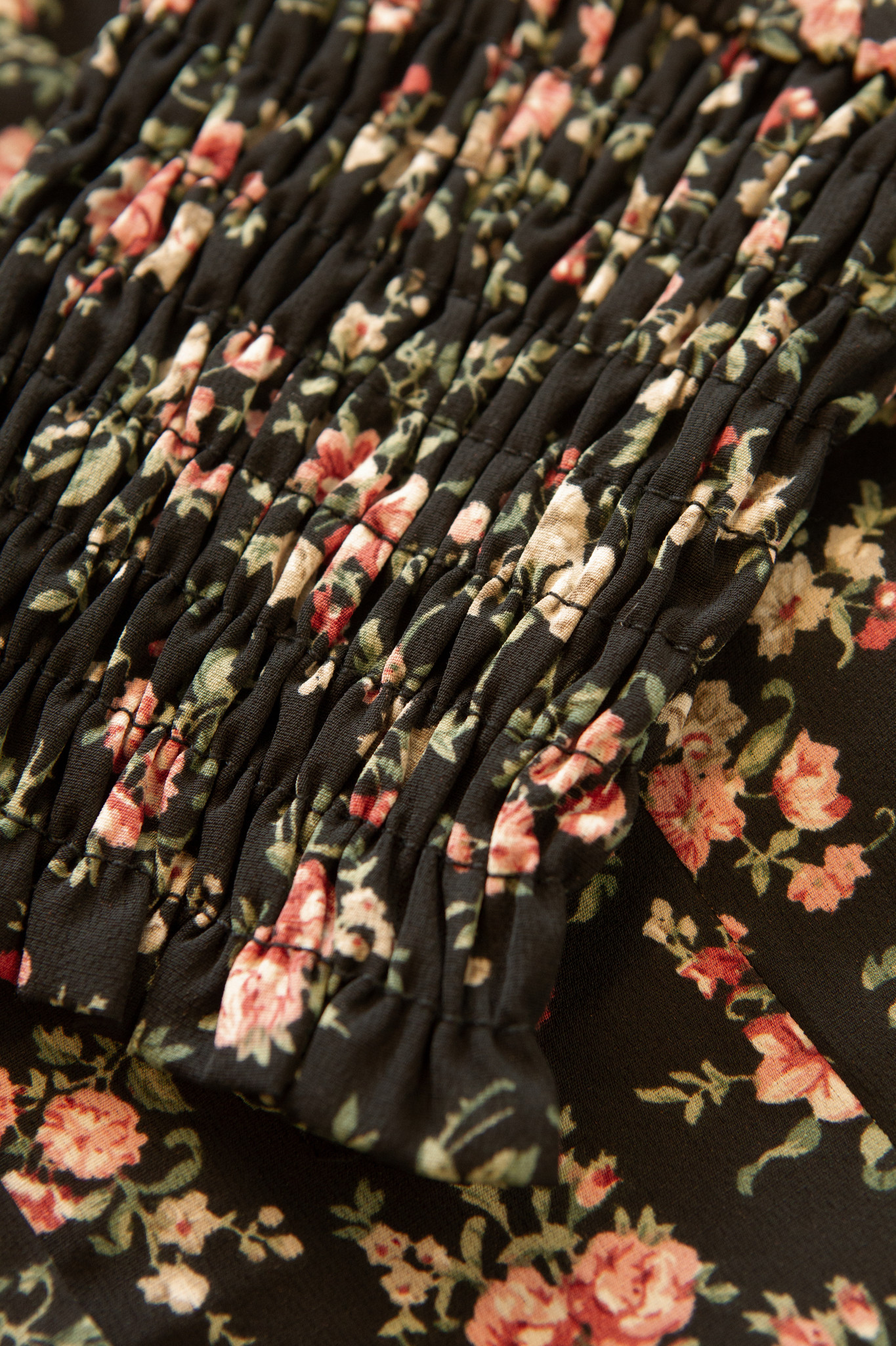 Lofty Manner Pink-Black Floral Print Top Mayra