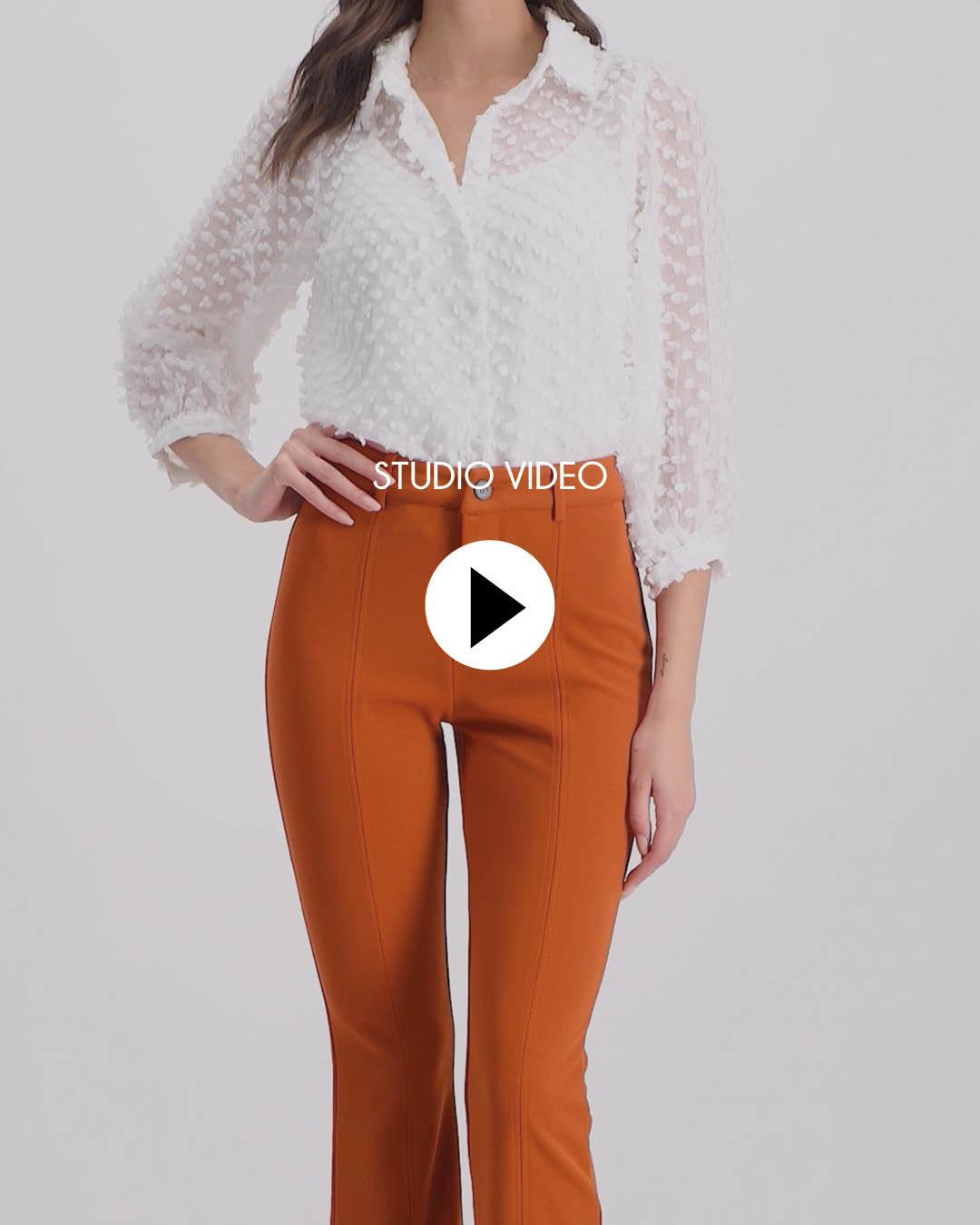 Lofty Manner Rust brown/orange Trousers Angelina