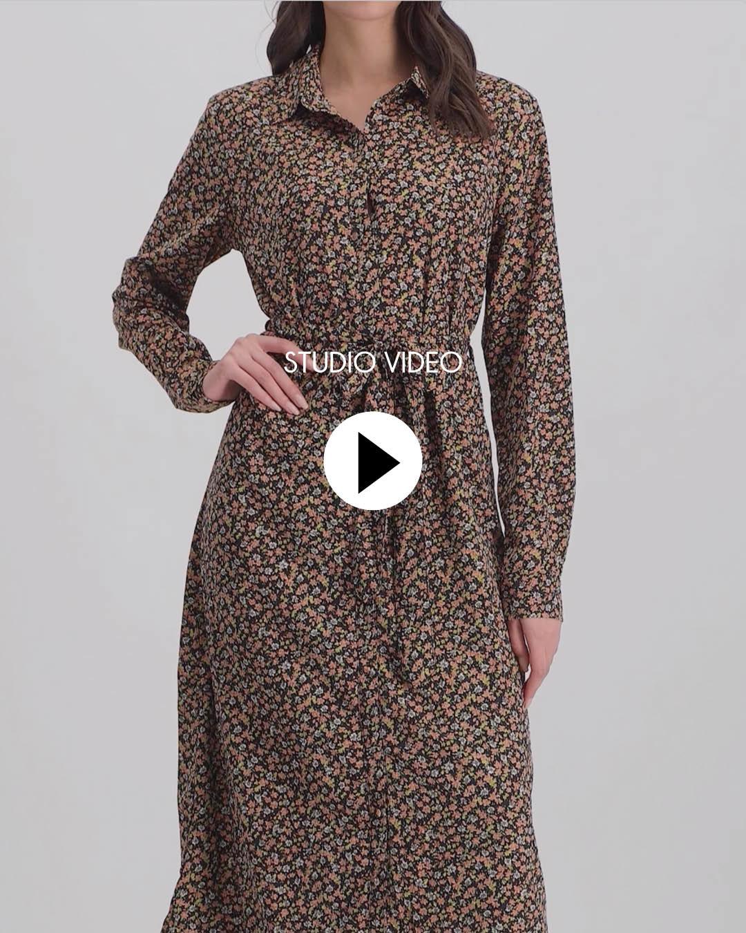 Lofty Manner Black Floral Print Maxi Dress Daisy