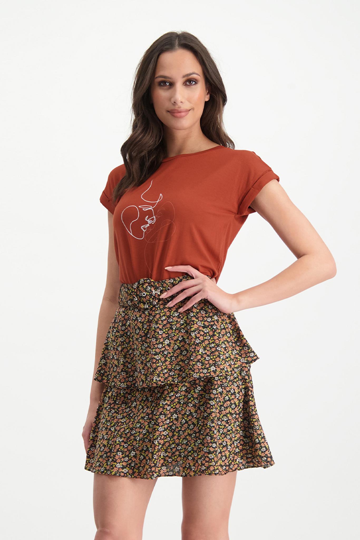 Lofty Manner Roestbruin T-shirt Zoe