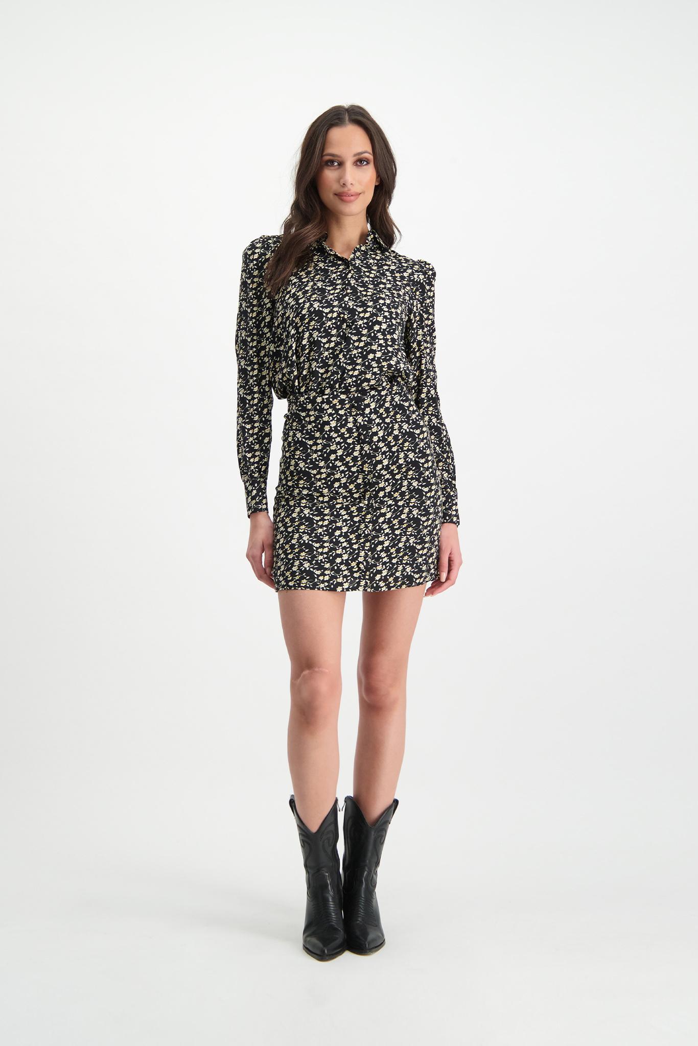 Lofty Manner Black Floral Print Skirt Marly