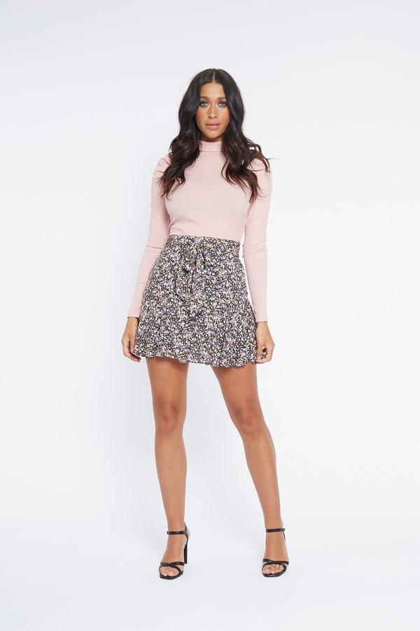 Lofty Manner Skirt Elvira Purple Green
