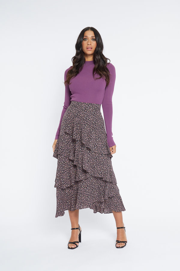 Lofty Manner Skirt Cheryl Purple Black