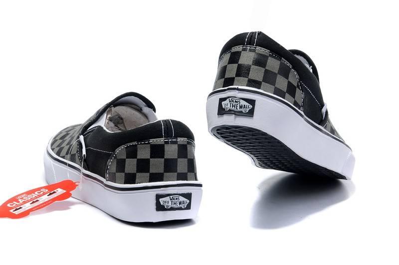 VANS Vans Slip-On Black/Pewter Checkerboard