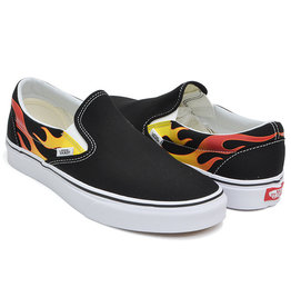 VANS Slip-On (Flame) Black/Black/True White