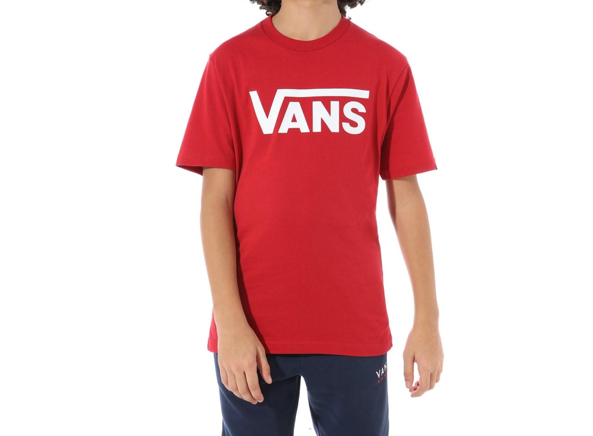 VANS Classic Boys T-shirt Chill Pepper/White