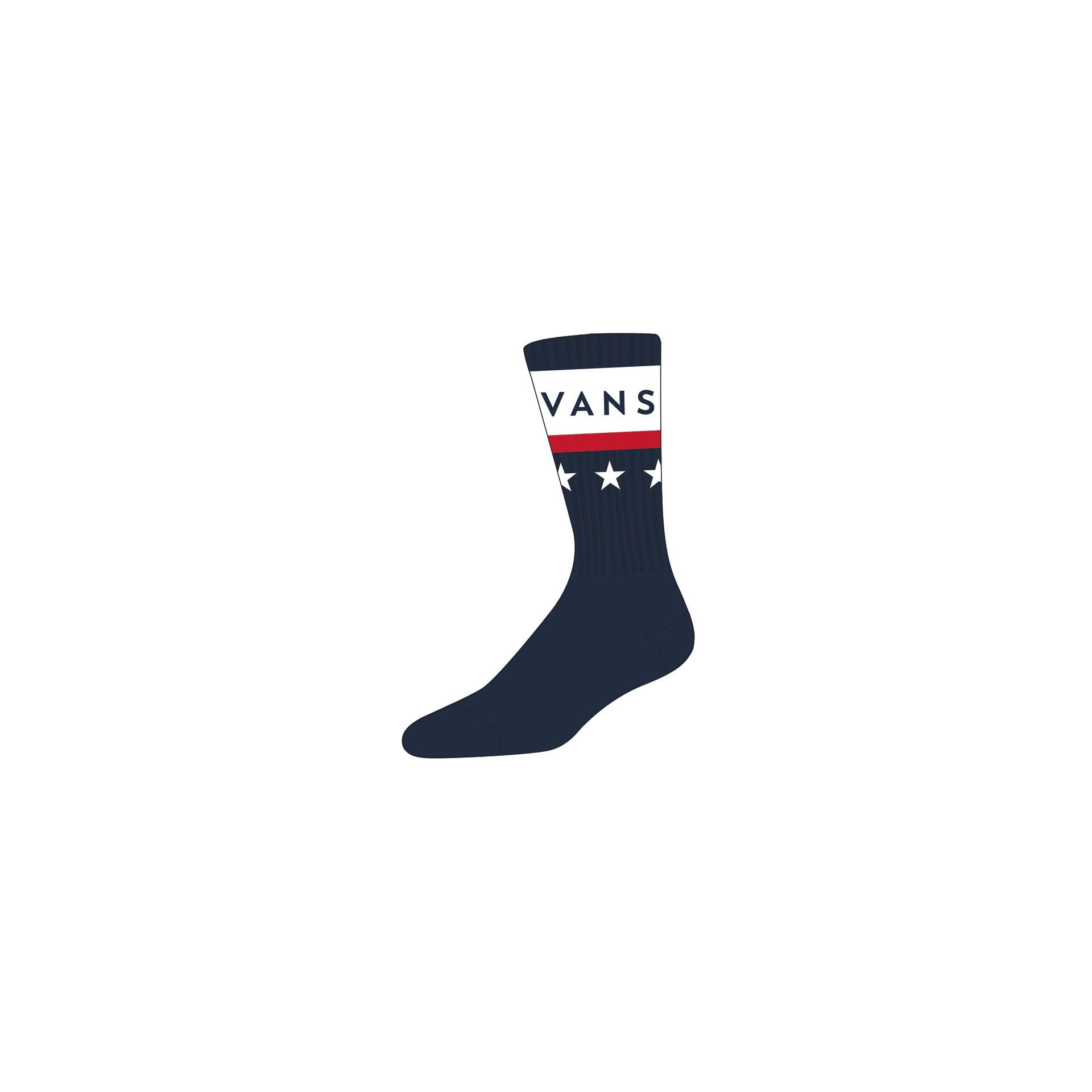 VANS MN VICTORY CREW (6.5-9, 1P) dress blues