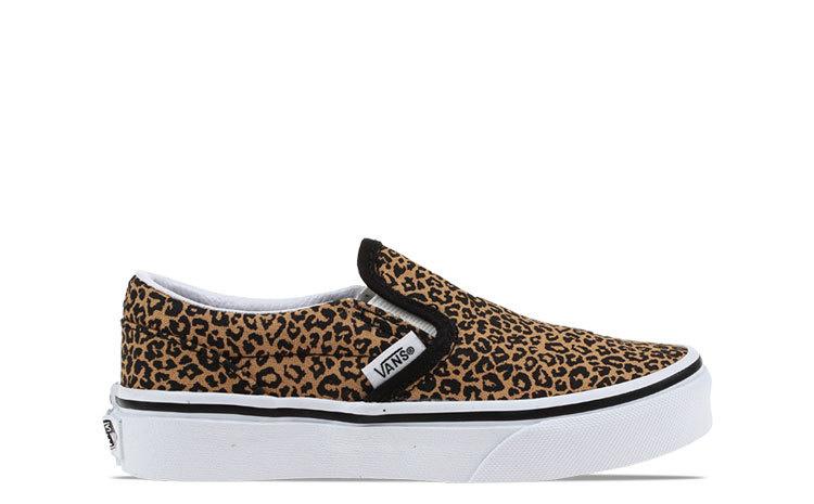 VANS VANS CLASSIC SLIP ON ZWART Leopard Kids