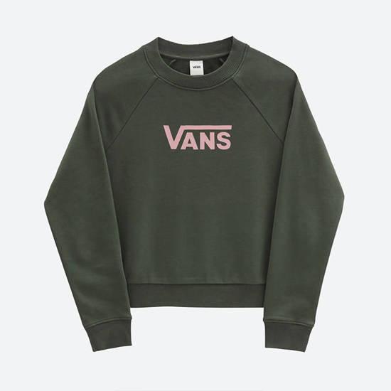 VANS Vans Flying V Ft Boxy sweater green