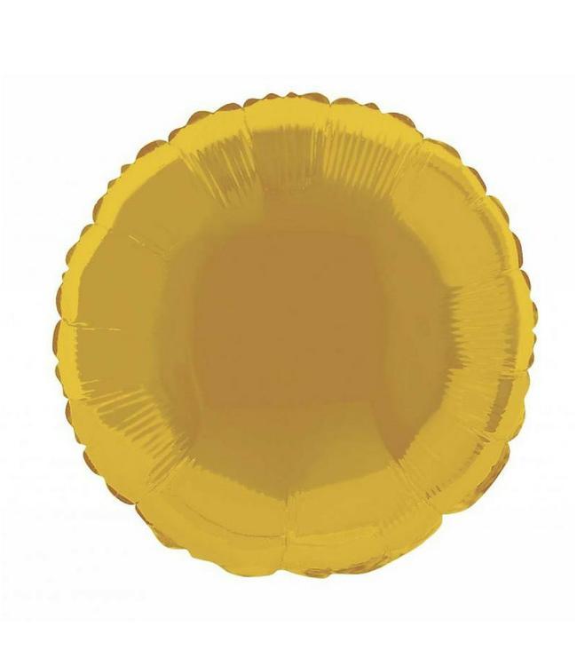 Oaktree Folieballon Rond Goud - 46 cm
