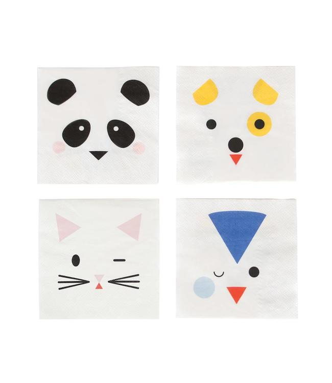 My Little Day Mini Animals Servetjes - 20 stuks