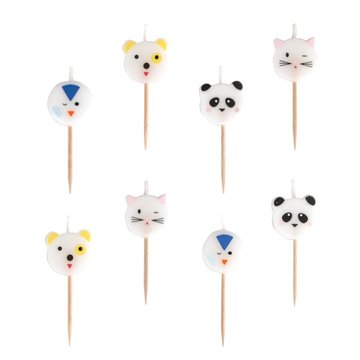 My Little Day Mini Animals Kaarsjes - 8 stuks