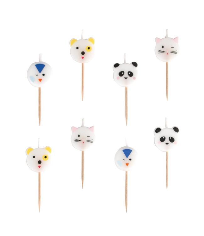 My Little Day Mini Animals Kaarsjes - 8 stuks
