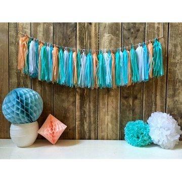 Haza Tasselslinger Pastel (DIY) - 30 tassels - 5 meter touw