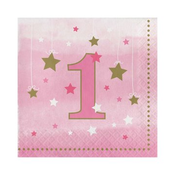 Creative Party One Little Star Girl Servetten - 16 stuks