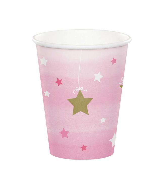 Creative Party One Little Star Girl Bekers - 8 stuks