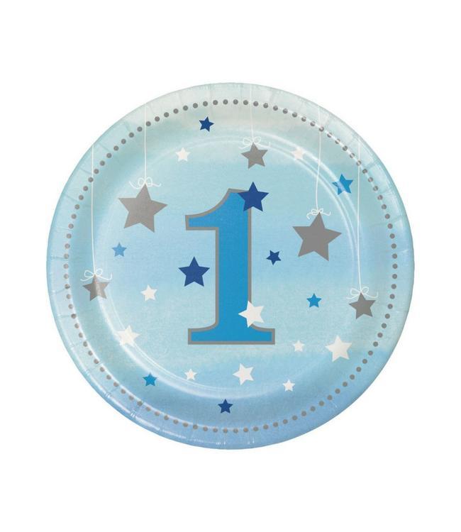 Creative Party One Little Star Boy Bordjes - 8 stuks - 18 cm