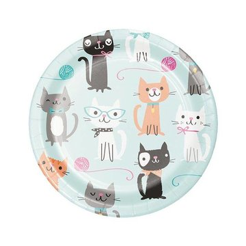 Creative Party Purr-fect Party Bordjes - 8 stuks - 18 cm
