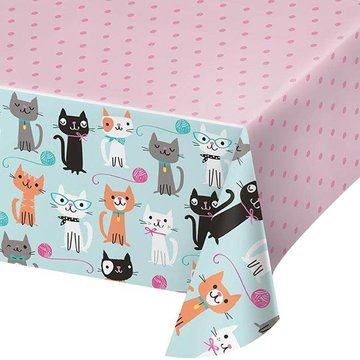 Creative Party Purr-fect Party Tafelkleed - Plastic - 137 x 259 cm