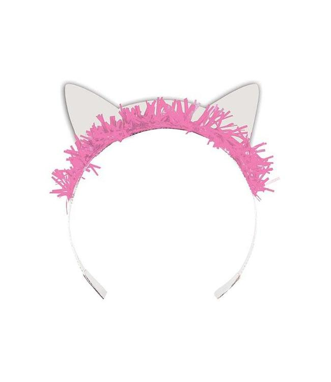 Creative Party Purr-fect Party Poezenoortjes Diademen - 8 stuks