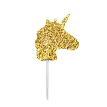 Creative Party Unicorn Cupcake Toppers - 12 stuks - goud