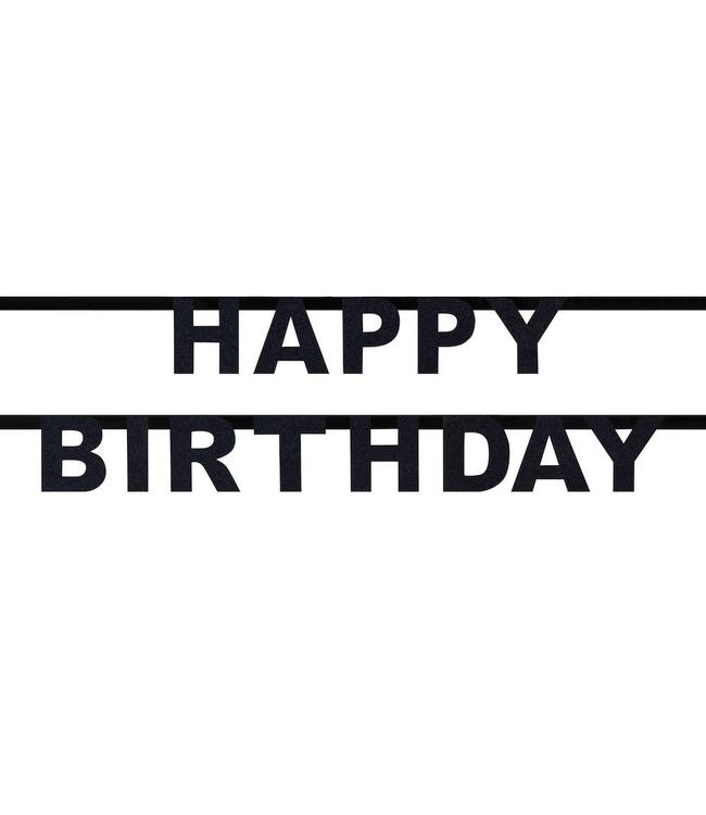 My Little Day Happy Birthday Slinger - Zwart - Glitters