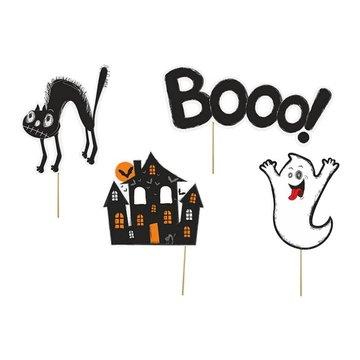Partydeco Booo! Props - 4 stuks