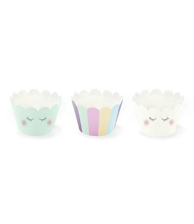 Partydeco Unicorn Cupcake Wrappers - 6 stuks - 3 designs