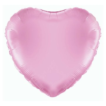 Betallic Folieballon Hart Lichtroze - 46 cm