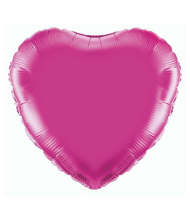 Betallic Folieballon Hart Roze - 46 cm