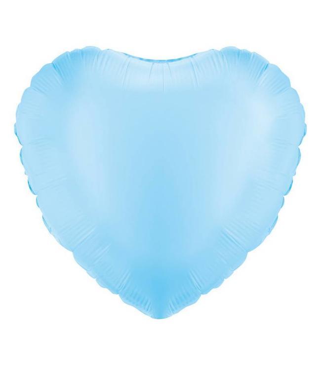 Betallic Folieballon Hart Lichtblauw - 46 cm