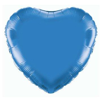 Unique Folieballon Hart Donkerblauw - 46 cm