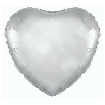 Betallic Folieballon Hart Zilver - 46 cm