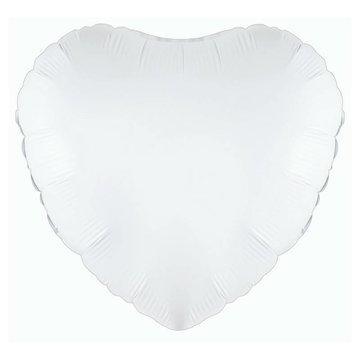 Betallic Folieballon Hart Wit - 46 cm