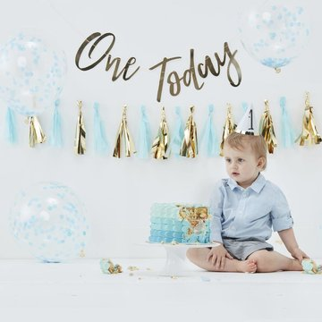 Ginger Ray 1 Jaar Cakesmash Kit Blauw - set van 8 items