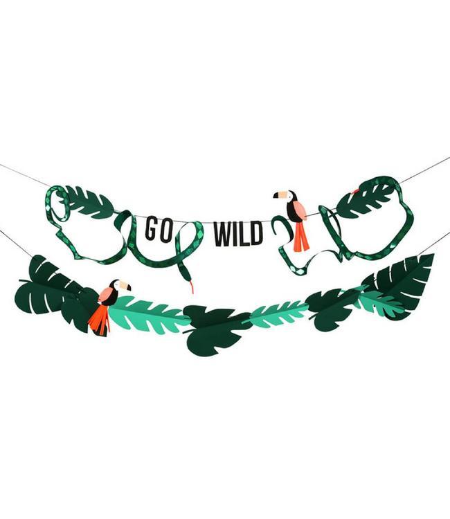 Meri Meri Go Wild Slinger Set - Safari Feestartikelen