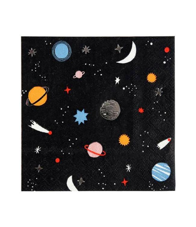 Meri Meri Space Servetten - 16 stuks - To the Moon feestartikelen