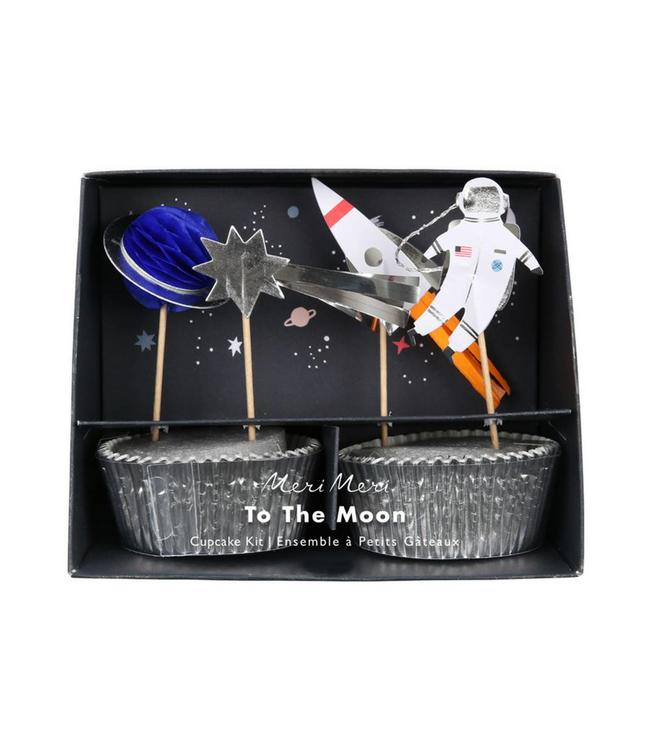 Meri Meri Space Cupcakes Set - 24 stuks - Ruimtevaart feestje