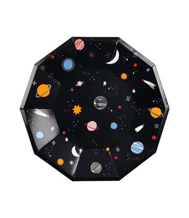 Meri Meri Space Borden - 8 stuks - To the Moon feestartikelen