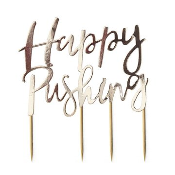Ginger Ray Oh Baby! Cake Topper 'Happy Pushing' - per stuk - Taarttopper