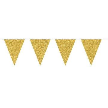Folat Vlaggenlijn Goud Glitter - 6 meter - plastic