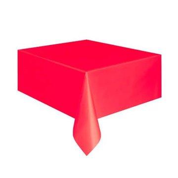 Amscan Rood Tafelkleed - 1,37 x 2,74 meter - plastic