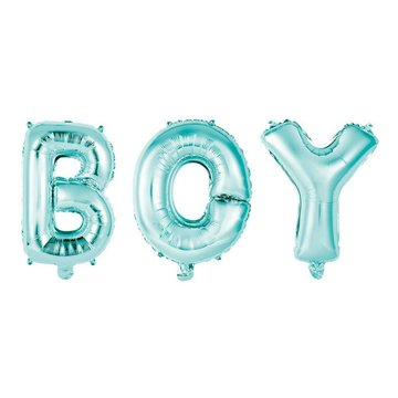 Unique Folieballon 'Boy' Blauw (balloon kit) - 40 cm hoog
