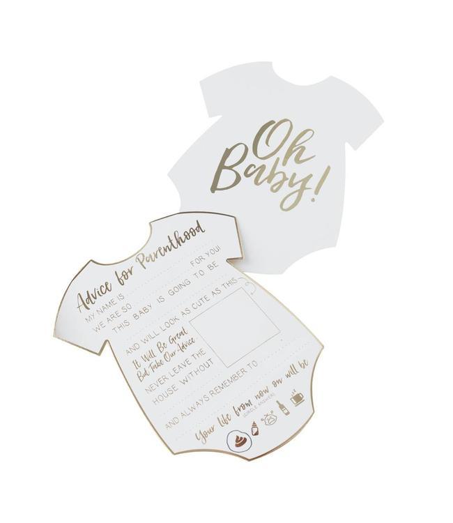 Ginger Ray Oh Baby! Advieskaarten - 10 stuks - babyshower