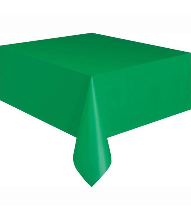 Unique Groen Tafelkleed - 1,37 x 2,74 meter - plastic - groene feestartikelen