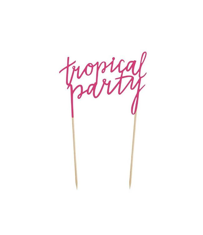 Partydeco Cake Topper 'Tropical Party' - per stuk - Aloha