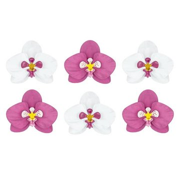 Partydeco Orchideeën Cut Outs - Set voor 6
