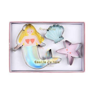 Meri Meri Cookie Cutters  Mermaid - Set van 3